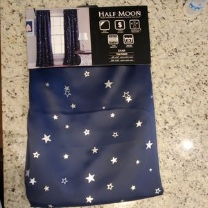 Half Moon curtains with silver stars